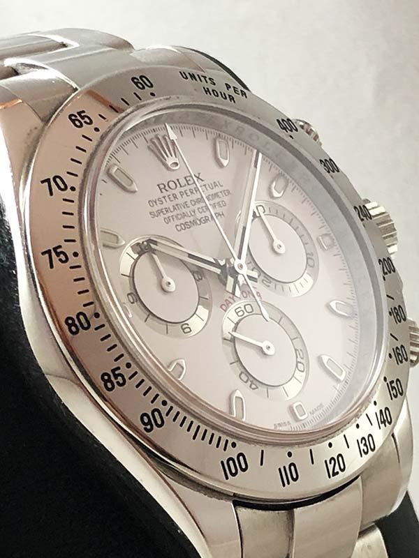 Orologio Rolex con cassa e bracciale in acciaio oysterseel, chiusura fliplook, lunetta in acciaio fissa, quadrante bianco Aph cromalight.