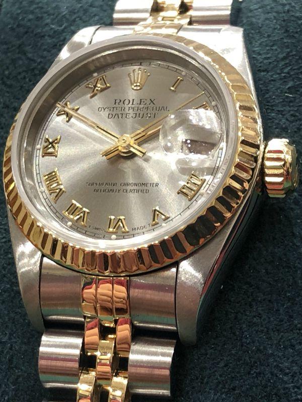 Rolex-lady-acciaio e oro-date just-orologi-minuti preziosi napoli