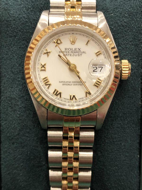 Rolex-lady-date just- acciaio e oro-orologi-minuti preziosi