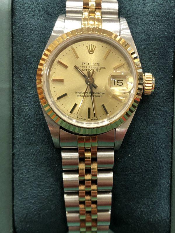 Rolex-lady-datejust-acciaio e oro- orologi -minuti preziosi